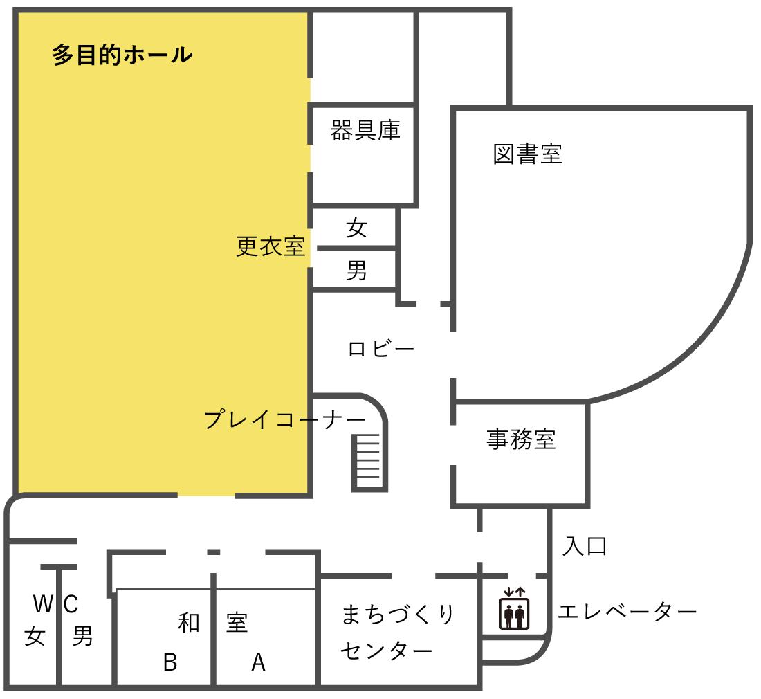 多目的ホール 平面図